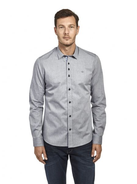 Mish Mash Men's Designer Long Sleeve Buttoned Grey Casual Shirt